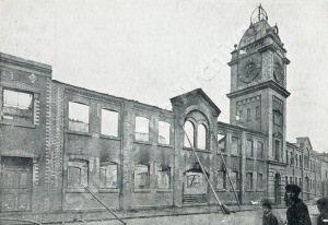 Corbett's Perserverance Ironworks, Shrewsbury, after the fire, 20 November 1905.