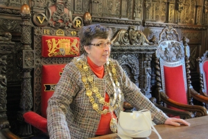 The Mayor, Councillor Mary Hill at The Guildhall